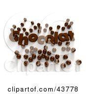 Clipart Illustration Of Chocolat Text Surrounded By 3d Chocolate Candy Balls by Frank Boston