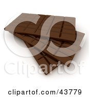 Clipart Illustration Of Stacked 3d Chocolate Candy Bars by Frank Boston