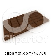 Clipart Illustration Of A Whole Chocolate Candy Bar With Breakable Pieces by Frank Boston