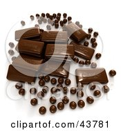 Clipart Illustration Of 3d Chocolate Candies And Chocolate Balls by Frank Boston