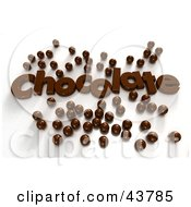Clipart Illustration Of Chocolate Text Surrounded By 3d Chocolate Candy Balls by Frank Boston