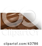 Clipart Illustration Of A Closeup Of 3d Chocolate Bars by Frank Boston
