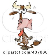 Royalty Free RF Clip Art Illustration Of A Tired Cow by toonaday