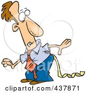 Royalty Free RF Clip Art Illustration Of A Cartoon Businessman Discovering Toilet Paper Stuck To His Pants by toonaday