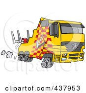 Royalty Free RF Clip Art Illustration Of A Cartoon Fast Tow Truck by toonaday