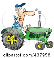 Royalty Free RF Clip Art Illustration Of A Cartoon Tractor Driver by toonaday