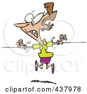 Royalty Free RF Clip Art Illustration Of A Torn Businesswoman Being Pulled Two Ways