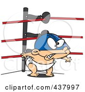 Royalty Free RF Clip Art Illustration Of A Baby Wrestler by toonaday