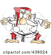 Royalty Free RF Clip Art Illustration Of A Cartoon Judo Santa by toonaday