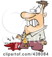 Royalty Free RF Clip Art Illustration Of A Taxes Anvil Smashing A Businessmans Foot