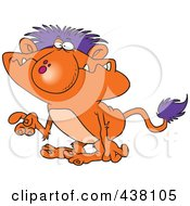 Royalty Free RF Clip Art Illustration Of A Cartoon Troll Gesturing With A Finger by toonaday