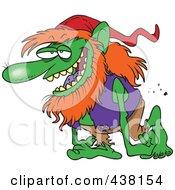 Royalty Free RF Clip Art Illustration Of A Cartoon Troll Walking by toonaday