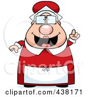 Royalty Free RF Clipart Illustration Of A Plump Mrs Claus With An Idea by Cory Thoman