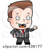Royalty Free RF Clipart Illustration Of A Toddler Businessman Presenting