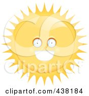 Royalty Free RF Clipart Illustration Of A Sun Character by Cory Thoman