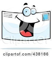 Royalty Free RF Clipart Illustration Of A Letter Character Smiling by Cory Thoman