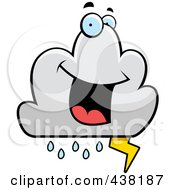 Royalty Free RF Clipart Illustration Of A Lightning Cloud Character