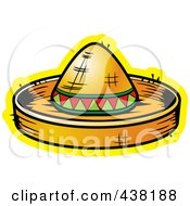 Royalty Free RF Clipart Illustration Of A Sombrero Hat