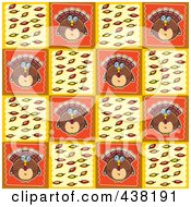 Royalty Free RF Clipart Illustration Of A Thanksgiving Turkey Background Pattern