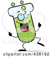 Royalty Free RF Clipart Illustration Of A Test Tube Character Dancing by Cory Thoman