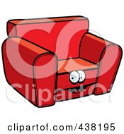 Royalty Free RF Clipart Illustration Of A Red Chair Character