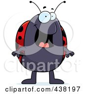 Royalty Free RF Clipart Illustration Of A Happy Ladybug by Cory Thoman