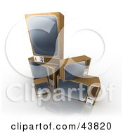 Clipart Illustration Of Stacked Box TVs Being Tossed Out