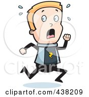 Royalty Free RF Clipart Illustration Of A Space Ranger Boy Running