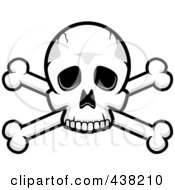 Royalty Free RF Clipart Illustration Of A Skull And Crossed Bones