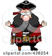 Royalty Free RF Clipart Illustration Of A Careless Pirate Shrugging