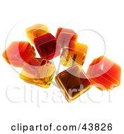 Clipart Illustration Of Orange Flavored 3d Suckers