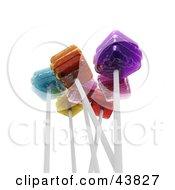 Clipart Illustration Of Various Flavored 3d Lollipops