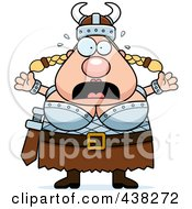 Royalty Free RF Clipart Illustration Of A Fearful Plump Female Viking