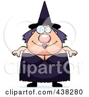 Royalty Free RF Clipart Illustration Of A Plump Witch by Cory Thoman