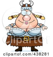 Royalty Free RF Clipart Illustration Of A Plump Female Viking by Cory Thoman