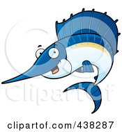 Royalty Free RF Clipart Illustration Of A Happy Sailfish