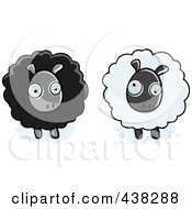 Royalty Free RF Clipart Illustration Of Black And White Sheep