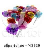 Clipart Illustration Of Various Flavored 3d Lolipops