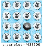 Royalty Free RF Clipart Illustration Of A Sheep Background Pattern