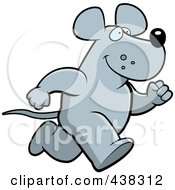 Royalty Free RF Clipart Illustration Of A Mouse Running Upright by Cory Thoman