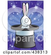 Royalty Free RF Clipart Illustration Of A Grinning Rabbit In A Magic Hat