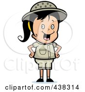 Royalty Free RF Clipart Illustration Of A Safari Girl With Her Hands On Her Hips