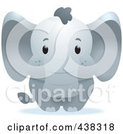 Royalty Free RF Clipart Illustration Of A Cute Baby Elephant by Cory Thoman