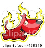Royalty Free RF Clipart Illustration Of A Fiery Devil Dog by Cory Thoman