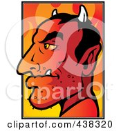 Royalty Free RF Clipart Illustration Of A Devils Profile