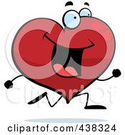 Royalty Free RF Clipart Illustration Of A Happy Running Heart