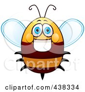 Royalty Free RF Clipart Illustration Of A Friendly Fat Bee by Cory Thoman