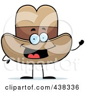 Royalty Free RF Clipart Illustration Of A Cowboy Hat Waving by Cory Thoman