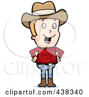 Blond Male Cowboy Standing With His Hands On His Hips by Cory Thoman