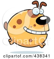 Royalty Free RF Clipart Illustration Of A Round Dog Leaping